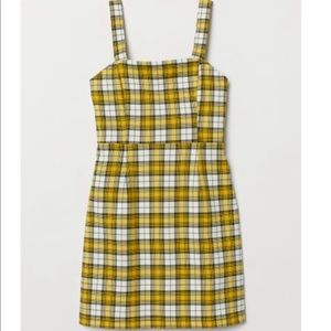 H&M Yellow Plaid/Checkered Dress